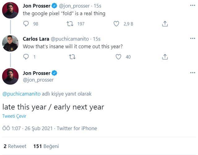 Tweet by Jon Prosser