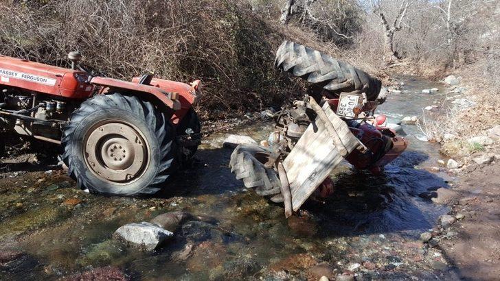 Bigadiç'te traktör kazası: 1 ölü