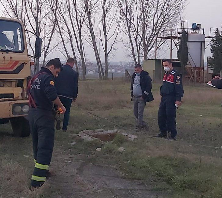 Kullanılamayan fabrikanın bahçesindeki foseptiğe düşen bekçi öldü