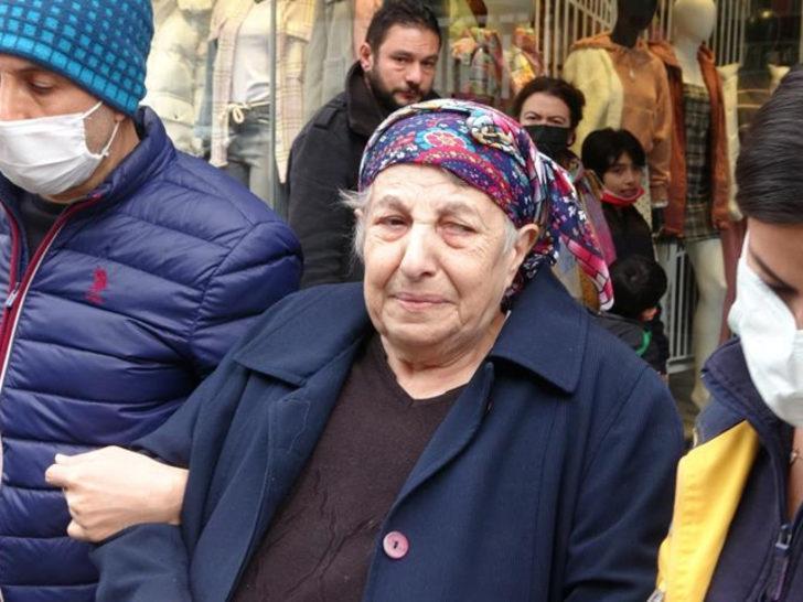 Evi yanan yaşlı kadın gözyaşlarına boğuldu