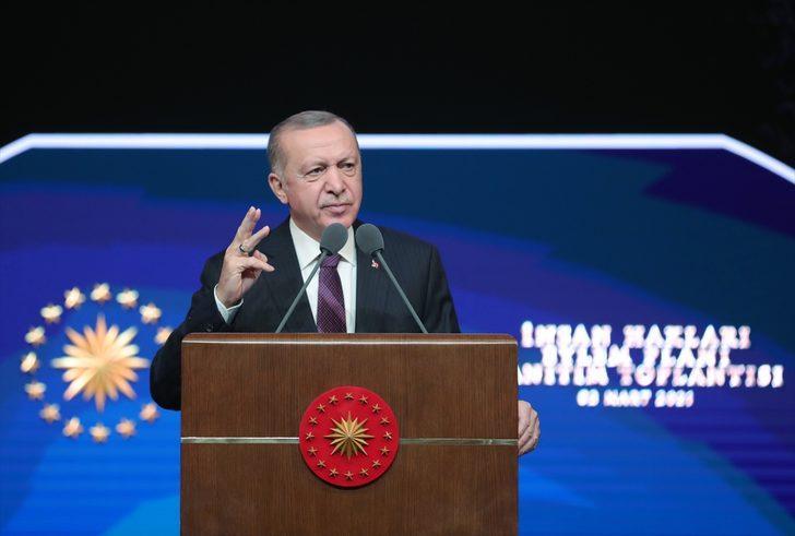 Son Dakika: Cumhurbaşkanı Erdoğan İnsan Hakları Eylem Planı'nı açıkladı