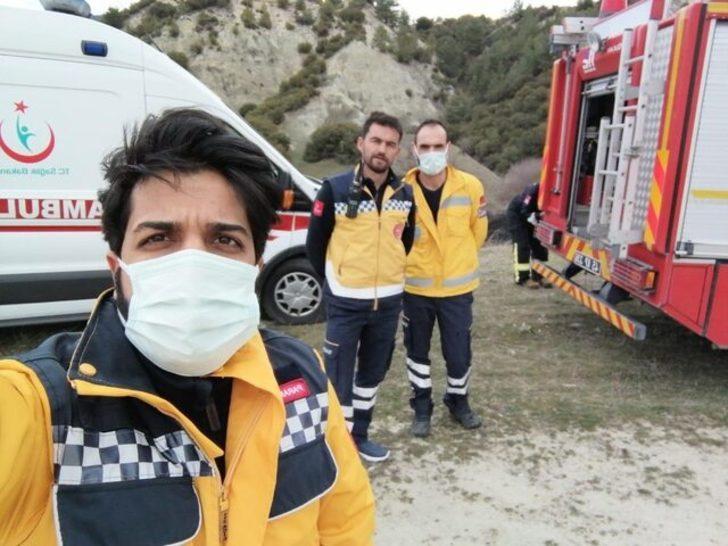 112 Acil Sağlık ekiplerinden orman yangınına ilk müdahale