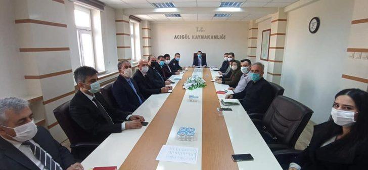 Acıgöl'de ilçe kurum müdürleri toplantısı yapıldı