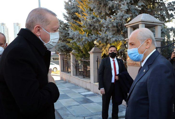 Son Dakika: Cumhurbaşkanı Erdoğan'dan Devlet Bahçeli'ye sürpriz ziyaret
