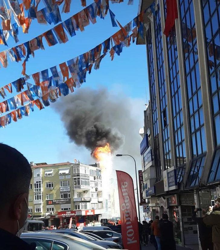 Kartal'da dershanede yangın