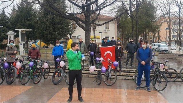 Çankırı'da pedallar kadınlar için çevrildi