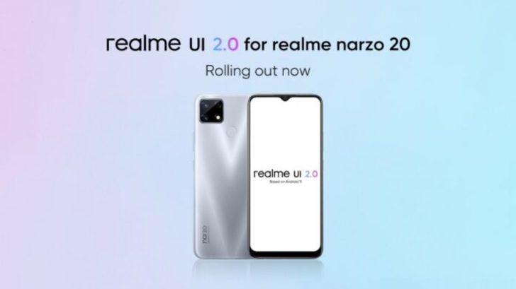 Realme Narzo 20'ye Android 11 müjdesi
