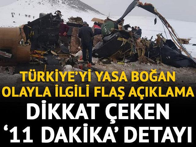 MSB'den Bitlis'teki helikopter kazasıyla ilgili flaş açıklama