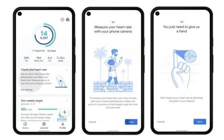 Google kalp ve solunum hızı izleyicisi hazır