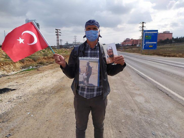 Kardeşinin gerçek katilinin tutuklanmadığı iddiasıyla Ankara'ya yürüyüş başlattı