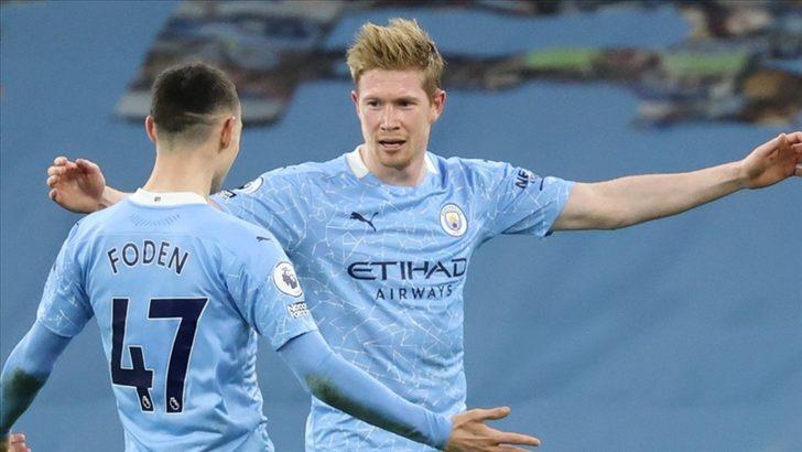 İngiltere Premier Lig'de lider Manchester City farklı kazandı