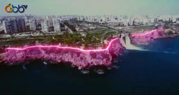 Antalya'daki falezleri ışıklandırma projesi tepki çekti: Tam bir pavyon havası