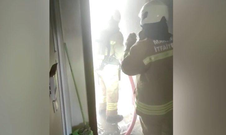 Mardin'de 8 katlı apartmanda korkutan yangın