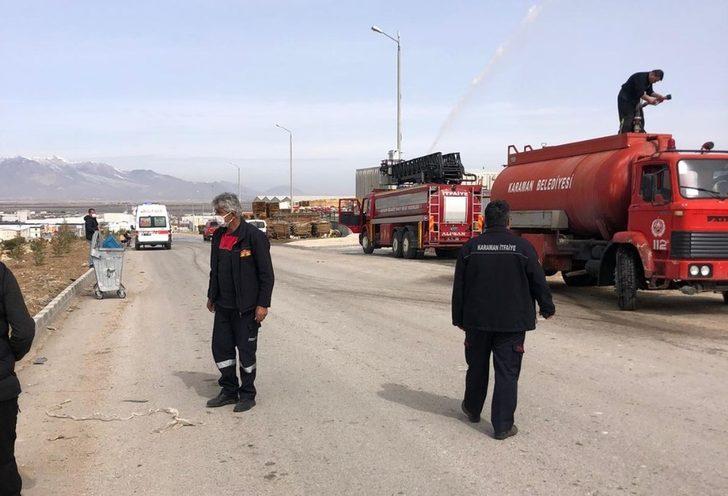 Karaman'da bir depoda yaşanan amonyak gazı sızıntısı paniğe yol açtı
