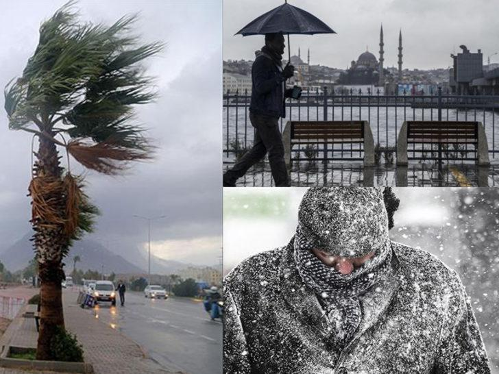 Meteoroloji'den kar ve yağmur uyarısı! İstanbullular dikkat (15 Mart hava durumu)