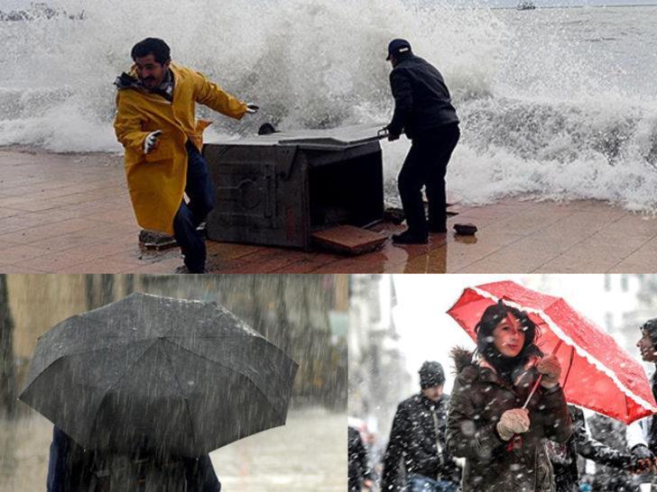 Meteoroloji'den kar, yağmur ve fırtına uyarısı! Bu bölgelerde oturanlar dikkat (16 Mart yurtta hava durumu)