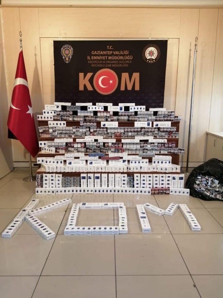 2 bin 580 paket kaçak sigara ele geçirildi