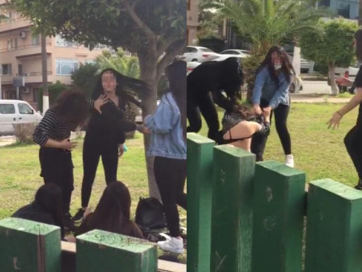 Hatay'da kızların tekme tokat kavgası kamerada - Yaşam Haberleri