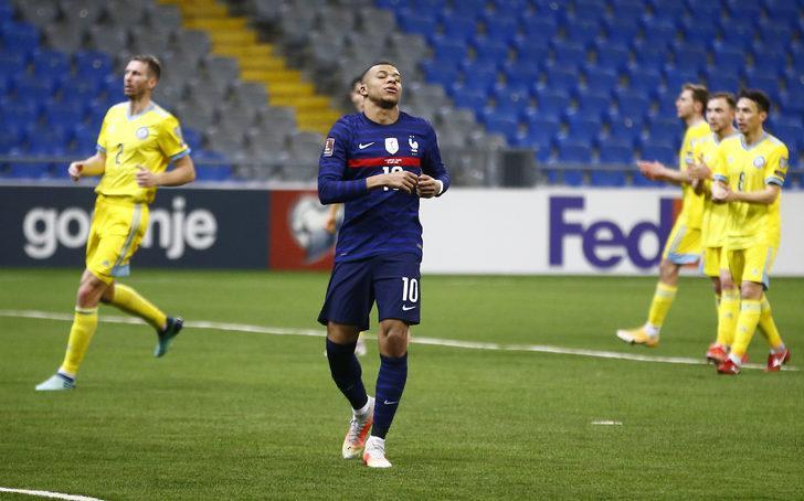 Griezmann rekor kırdı; Fransa, Kazakistan'ı ilk yarıda bitirdi
