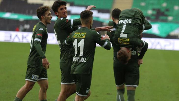 Bursaspor'un attığı 5 şutun 1'i gol oluyor