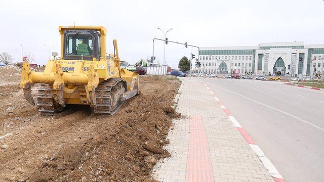 Karaman'da kavşak düzenlemesi