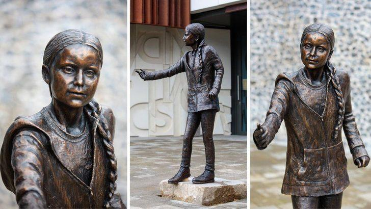 İngiltere'de üniversite Greta Thunberg'in heykelini dikti!