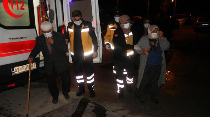 Konya'da yaşlı çiftin evinde korkutan patlama