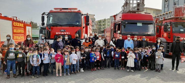 Cizre'de anaokulu öğrencileri için yangın tatbikatı gerçekleştirildi