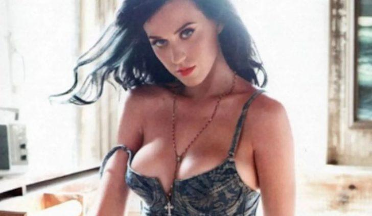 Katy Perry, klozetin tepesinde poz verdi