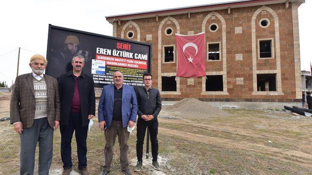 Şehit Eren Öztürk'ün vasiyet ettiği cami inşaatı hayırseverlerin yardımını bekliyor