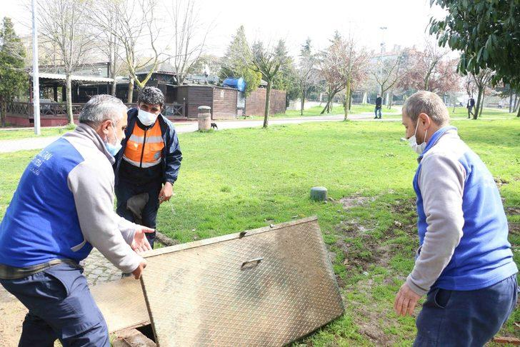 Eyüpsultan parklarına yağmur suyu depolama sistemleri kuruluyor