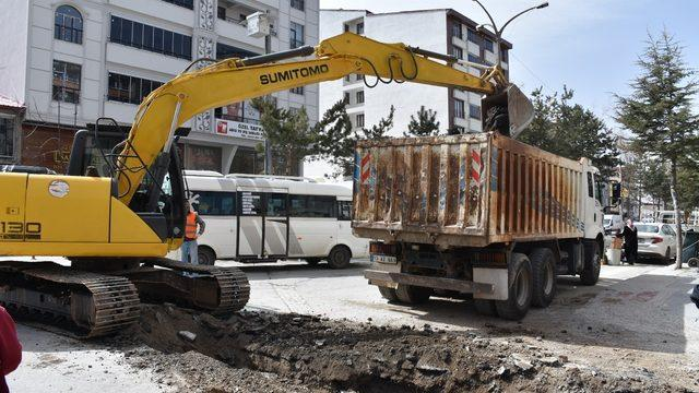Tatvan Belediyesinden altyapı çalışması