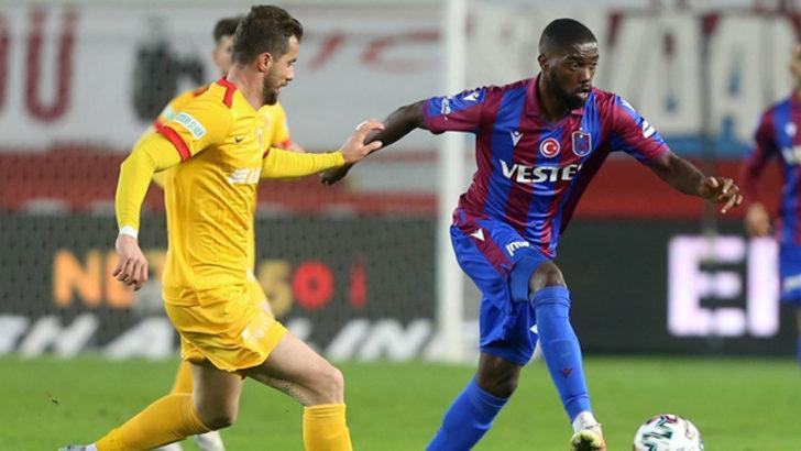 Trabzonspor'da forvetler etki edemedi