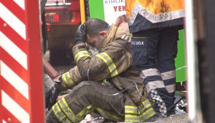 Beyoğlu'nda korkutan yangın: Patlama anı kameraya yansıdı