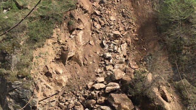 GÜNCELLEME - Giresun'da heyelan nedeniyle kapanan Bulancak-Kovanlık kara yolu ulaşıma açıldı