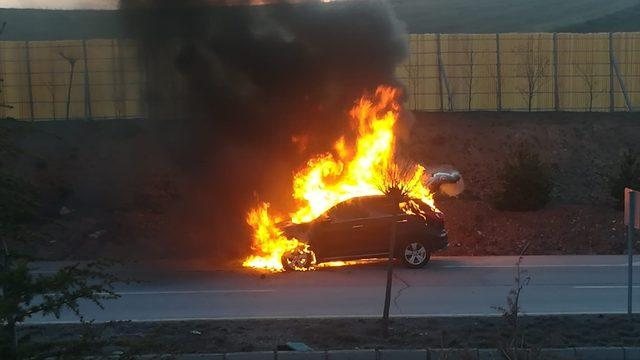 Sivas'ta hareket halindeki cipte çıkan yangın söndürüldü
