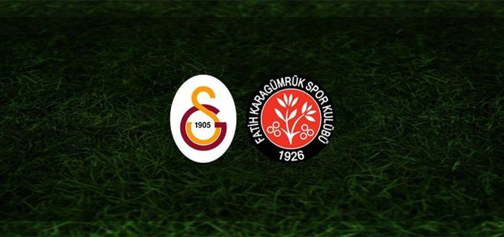 Galatasaray Karagümrük maçı saat kaçta, hangi kanalda? Aslan, Karagümrük'ü ağırlıyor
