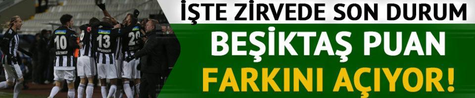 Beşiktaş puan farkını açıyor!