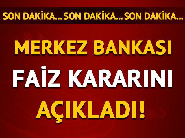 Merkez Bankası nisan ayı faiz kararını açıkladı!