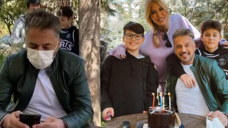 Çağla Şıkel ve çocuklarından Emre Altuğ'a sürpriz doğum günü!