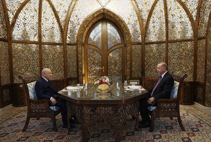 Cumhurbaşkanı Erdoğan ve Bahçeli iftarda bir araya geldi