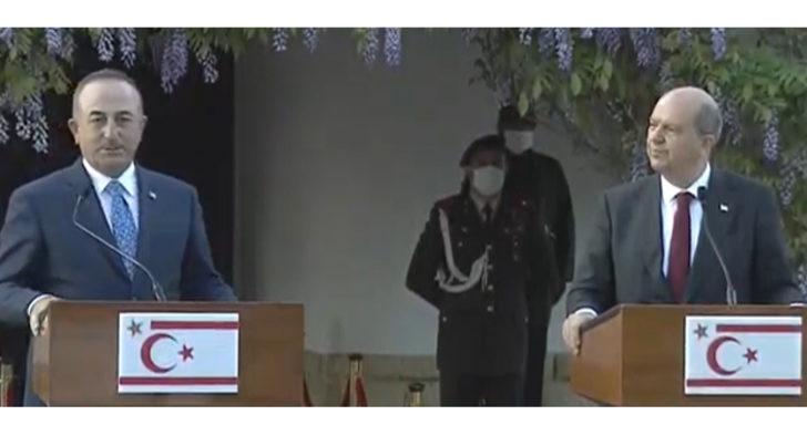 Bakan Çavuşoğlu ve KKTC Cumhurbaşkanı Tatar'dan ortak açıklama