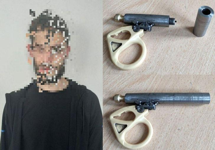 Polisin durdurduğu şüpheli şahsın üzerinden suikast silahı çıktı