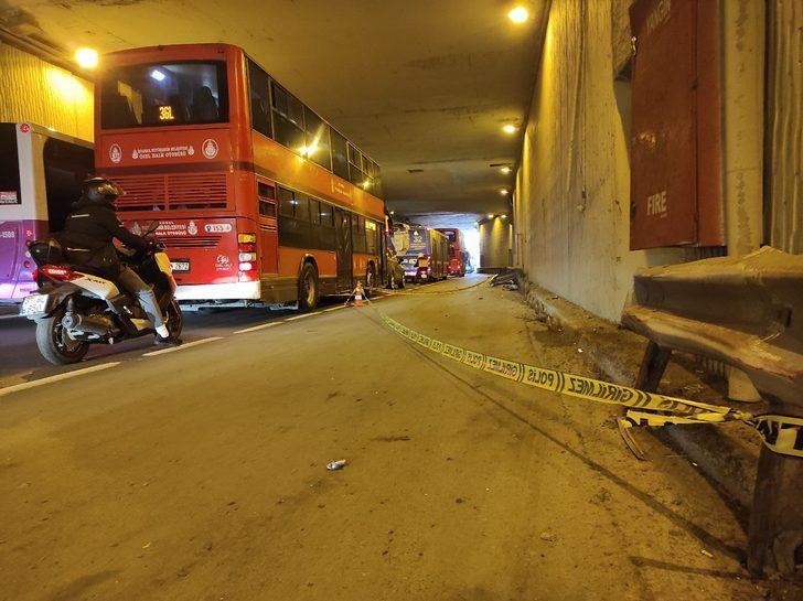 Son Dakika: Beşiktaş'ta İETT otobüsü kaza yaptı