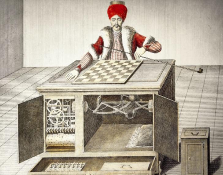 18. yüzyılda herkesi dize getiren ilk satranç makinesi! Yabancı kaynaklarda The Turk adıyla geçiyor