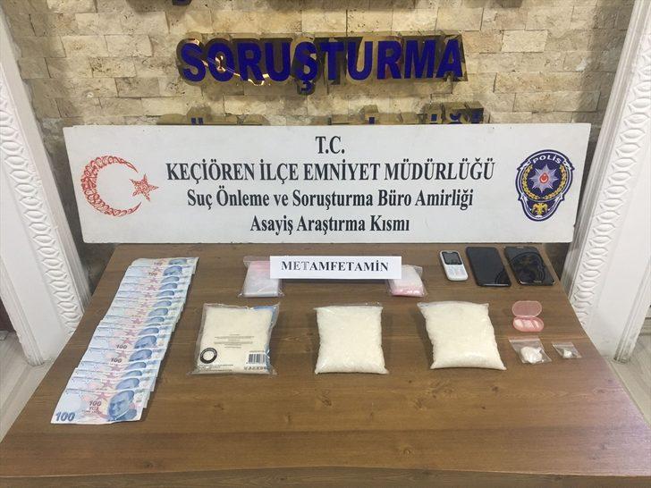 Başkentte uyuşturucu operasyonunda iki şüpheli gözaltına alındı
