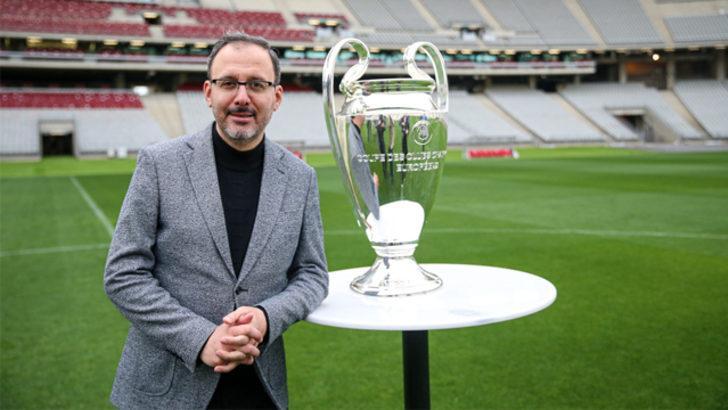 Bakan Kasapoğlu: UEFA Şampiyonlar Ligi finaline hazırız