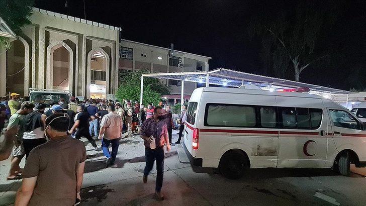 Irak'ta hastane yangınında ölenlerin sayısı yükseldi