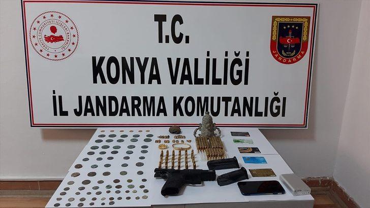 Konya'da tarihi eser kaçakçılığı operasyonunda 5 zanlı gözaltına alındı
