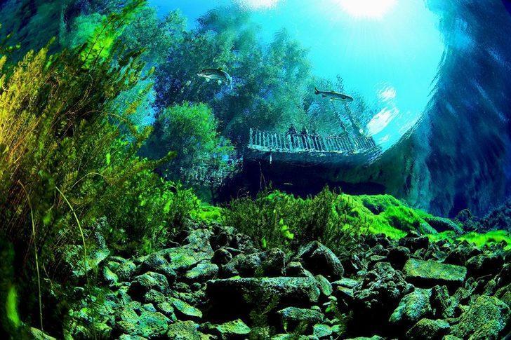 """""""Kesin korunacak hassas alan""""  ilan edilen doğal akvaryum Gökpınar Gölü'nde, turizm için hazırlıklar hızlandırıldı"""